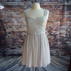 Armani Exchange Ruched Chiffon Dress Gray  Size 8